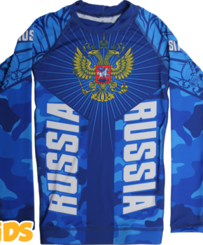 ДЕТСКИЙ РАШГАРД ALFA BREND CAMO BLUE